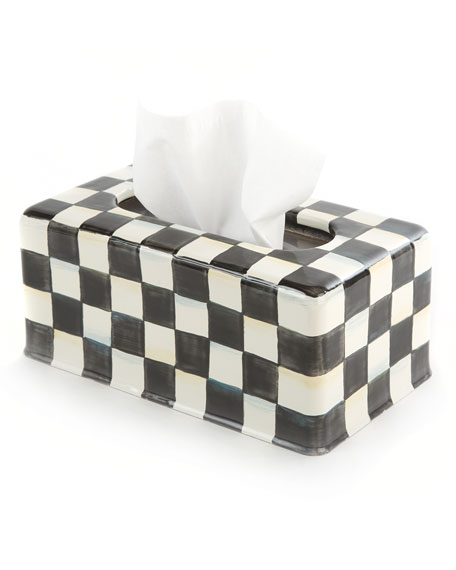 MacKenzie-Childs Courtly Check Long Tissue Box