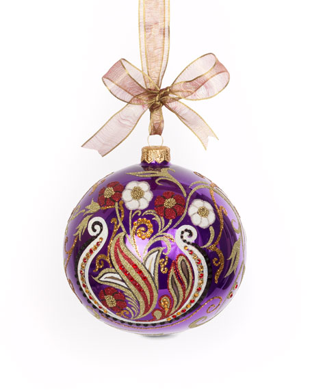 Jay Strongwater Paisley Artisan Glass Ornament