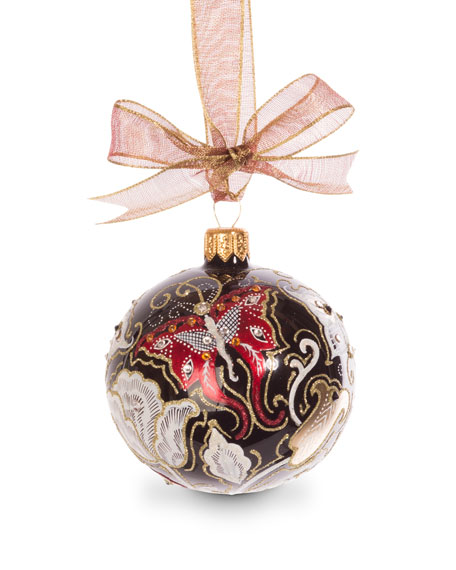 Jay Strongwater Butterfly Nouveau Artisan Ornament, Black