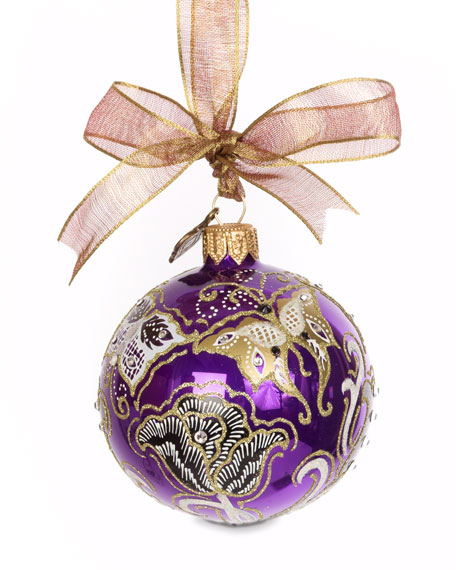 Jay Strongwater Butterfly Nouveau Artisan Ornament, Purple