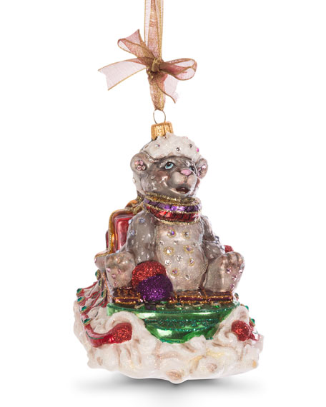 Jay Strongwater Mouse on Sled Ornament