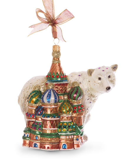 Jay Strongwater Palace Polar Bear Ornament