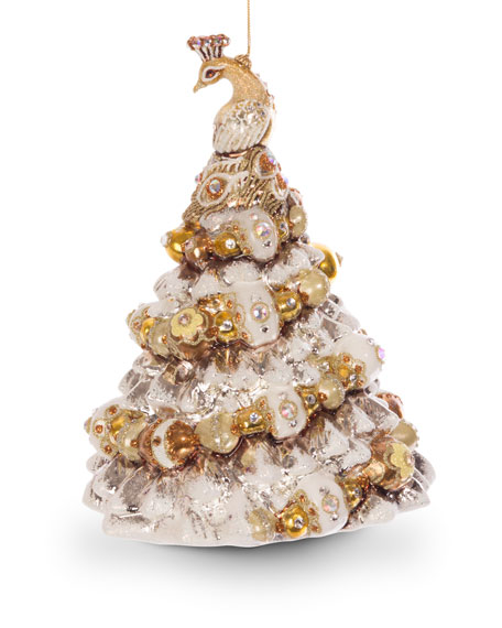 Jay Strongwater Peacock Christmas Tree Ornament