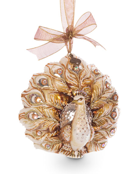 Jay Strongwater Fantail Peacock Ornament