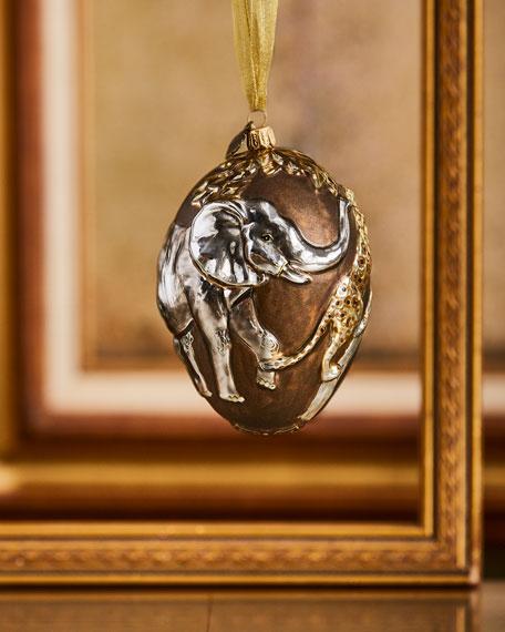 Gilded Safari Egg Ornament