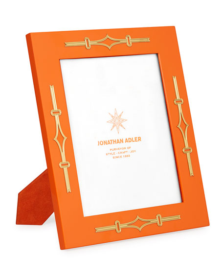 Jonathan Adler Turner Lacquer Picture Frame, Orange, 8