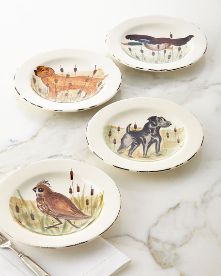 Vietri 4 Assorted Wildlife Salad Plates