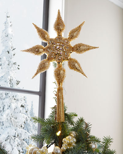 Golden Star Tree Topper
