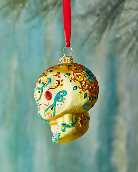 Calavera de Oro Christmas Ornament