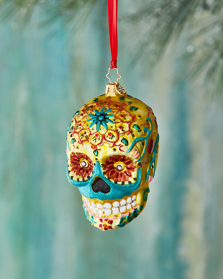 Christopher Radko Calavera de Oro Christmas Ornament