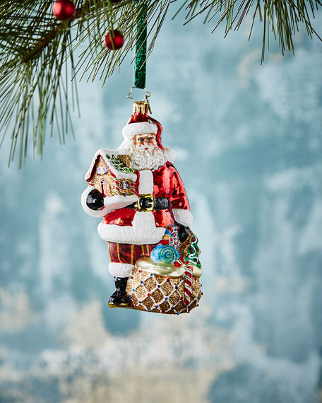 Christopher Radko Gingerbread Jubilee Santa Christmas Ornament