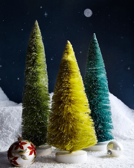 Set of 3 Large Trees, Green