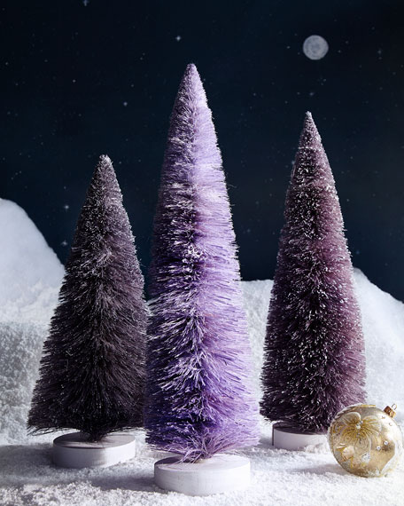 Set of 3 Large Trees, Purple