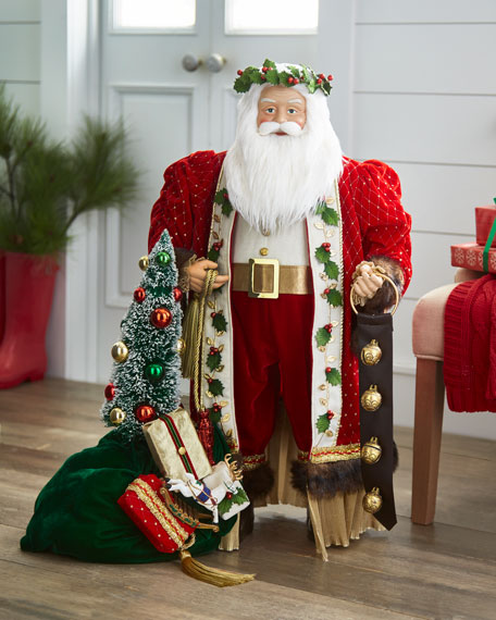Red & Green Collection Santa, 36""