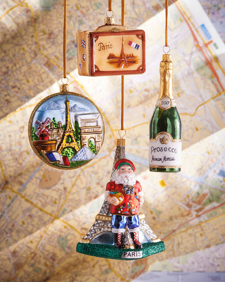 Paris Christmas Ornaments, Set of 4