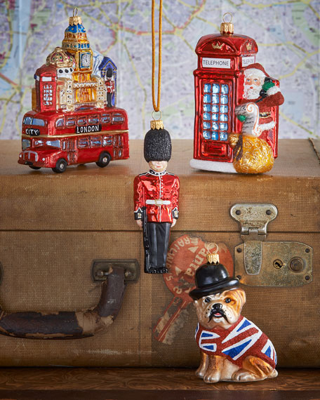 London Christmas Ornaments, Set of 4