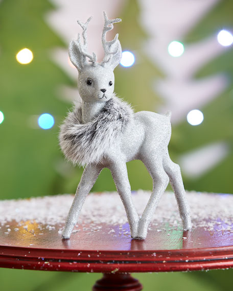 Ino Schaller Silvertone Reindeer Collectible, Small