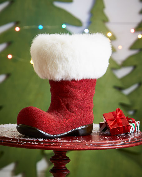Red Santa Boot Collectible, Extra Large