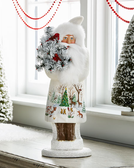Ino Schaller Santa with Forest Friends Collectible