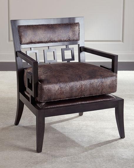 Serpent Greek Key Accent Chair