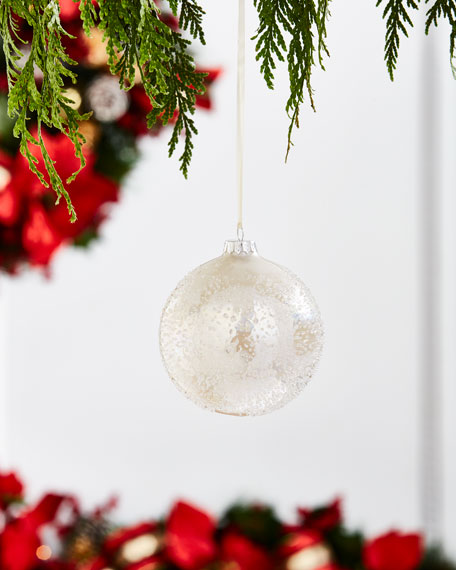 """Icy Pearl"" Ball Ornament"
