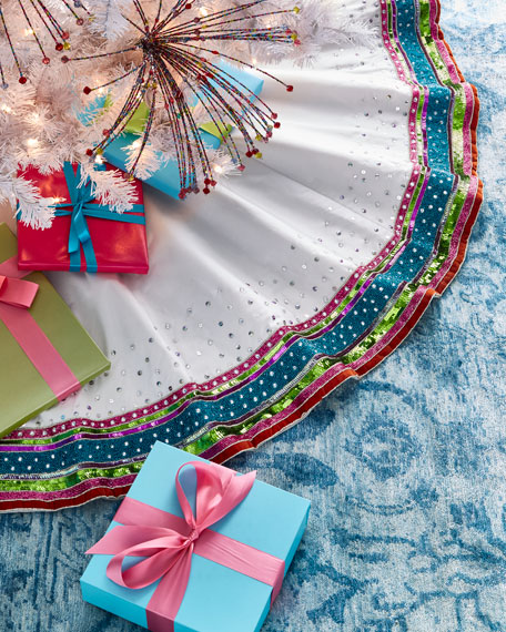 Kim Seybert Playful Brights Collection Tree Skirt