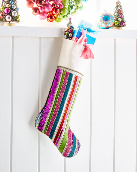 Kim Seybert Playful Brights Collection Stocking