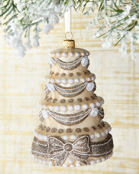 Mattarusky Ornaments Congrats & Best Wishes Cake Ornament