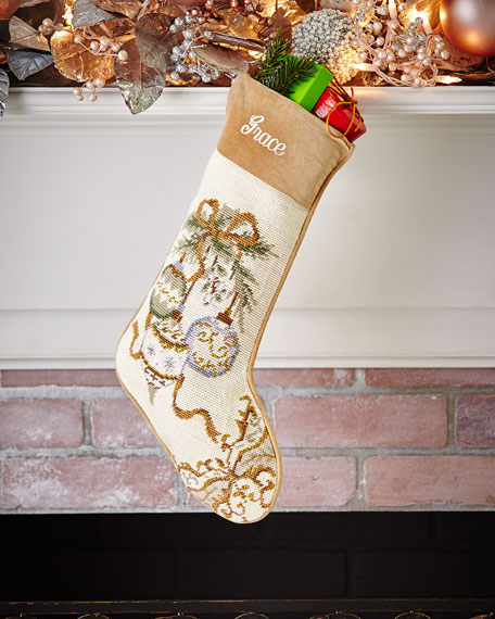 Ornaments Needlepoint Stocking