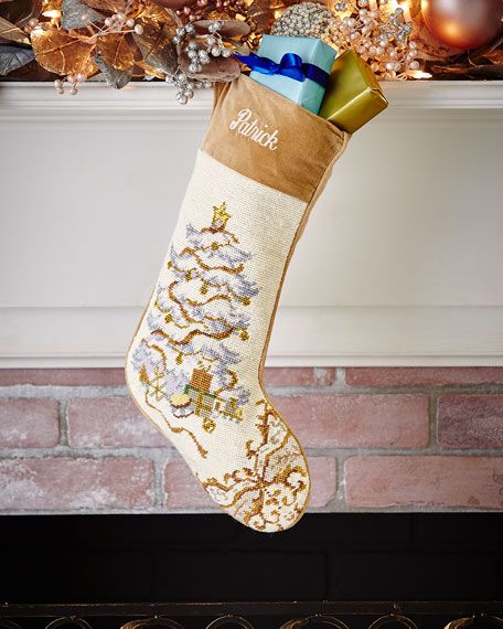 Christmas Tree Needlepoint Stocking