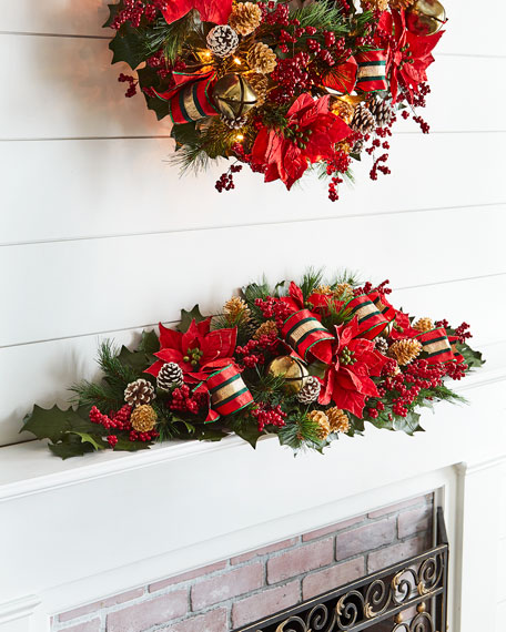 Red & Green Collection Mantelpiece
