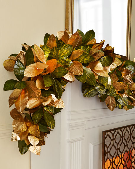 Gold & Glitter Collection 6' Magnolia Garland