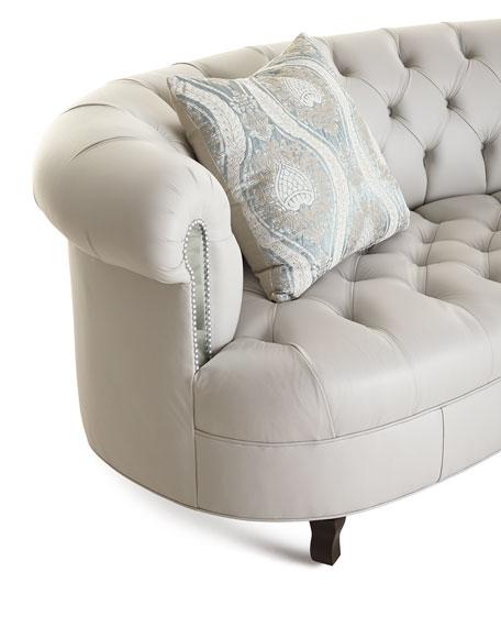 Rebecca Leather Mirrored Sofa