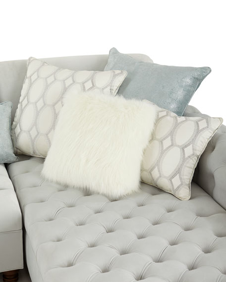 Image 2 of 3: Haute House Elyse Tufted Double Chaise Sectional