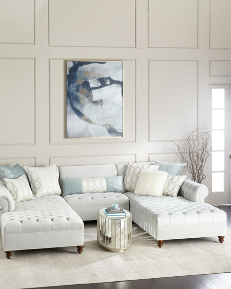 Image 1 of 3: Haute House Elyse Tufted Double Chaise Sectional