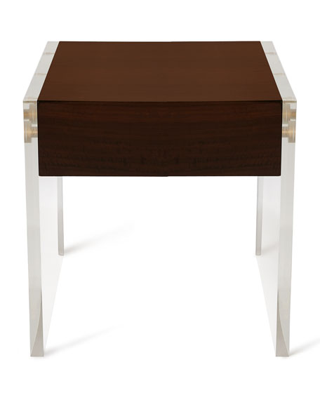 John-Richard Collection Welsh Acrylic & Wood Side Table