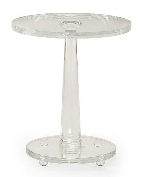 caracole Demetra Glass Side Table