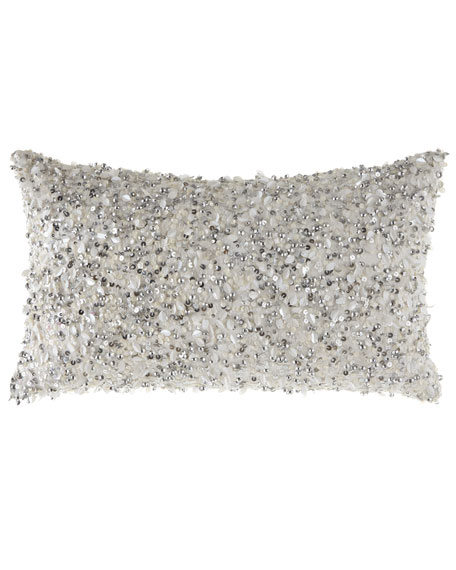 Eastern Accents Crystal Platinum Pillow