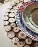 Jay Import Co Round Natural Sliced Wood Charger Plate