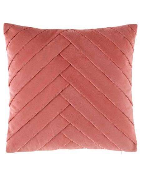 Pleated Velvet Pillow