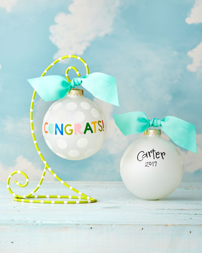 Congrats! Personalized Ornament with Stand