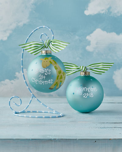 coton colors babys first christmas giraffe boy christmas ornament - Teal Christmas Ornaments
