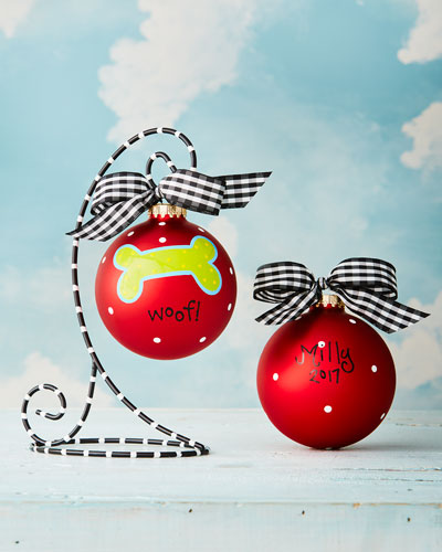 Dog Christmas Ornament with Stand