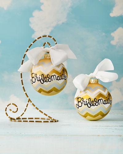 Bargello Bridesmaid Christmas Ornament