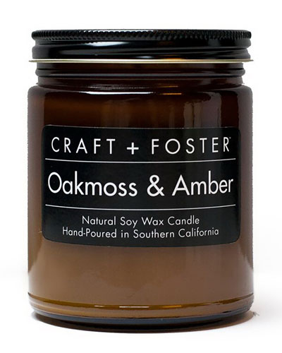 Oakmoss & Amber Candle, 8 oz.