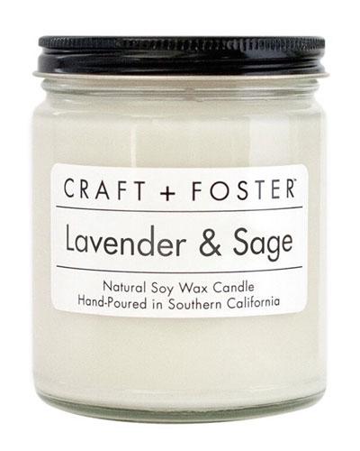 Lavender & Sage Candle, 8 oz.