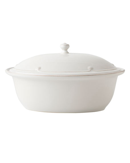 Berry & Thread Whitewash Covered Casserole Dish