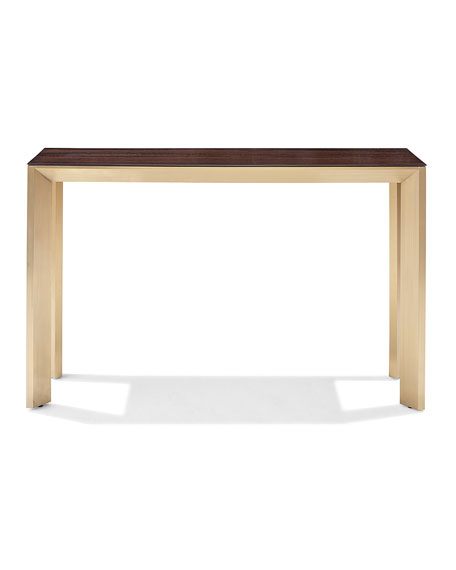 Interlude Home Bradshaw Brushed Brass Console Table
