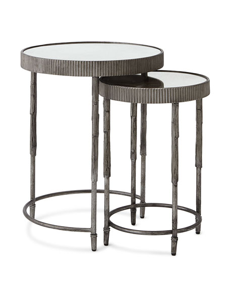 Image 2 of 2: Hooker Furniture Mark Antiqued Mirrored Nesting Tables