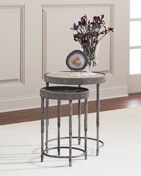 Image 1 of 2: Hooker Furniture Mark Antiqued Mirrored Nesting Tables